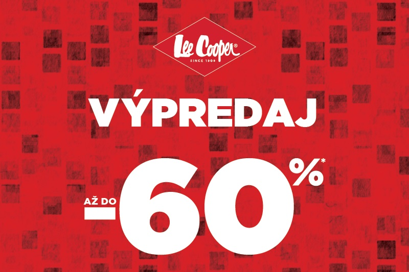 Výpredaj až do -60 %  v Lee Cooper.